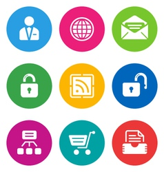 color web icons vector image
