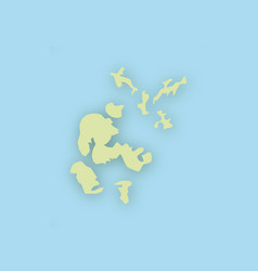 map of orkney islands with shadow vector image vector image