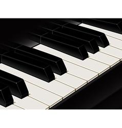 Piano keys vector image