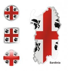 sardinia vector image vector image