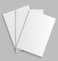 A stack of white sheets of paper vector