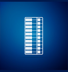 abacus icon isolated on blue background vector image