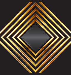 Abstact background with gold diamond frames vector