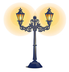 antique lamp post isolated on a white background vector image