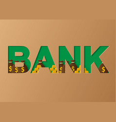 bank concept of a business profits investment vector image