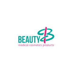 beauty cosmetics products icon vector image