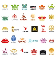 Biggest collection logos crown vector