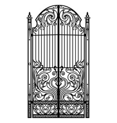 black metal gate vector image