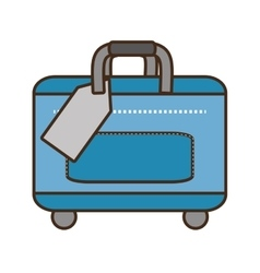 blue bag packback traveler vector image