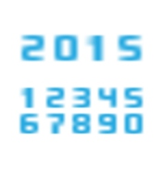 Blurred numbers vector