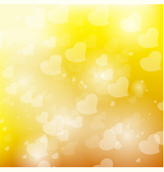bokeh yellow background vector image
