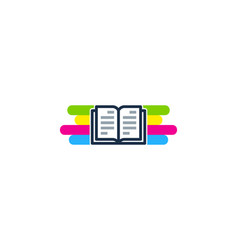 book paint logo icon design vector image