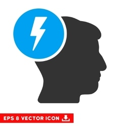 Brain Electricity Eps Icon vector
