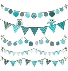 Bunting Owl Banner vector image
