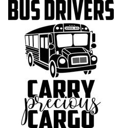 Bus drivers carry precious cargo on white vector