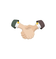 Business agreement handshake icon cartoon style vector image