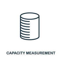 Capacity measurement icon outline style thin line vector