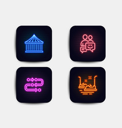 Carousels methodology and communication icons vector