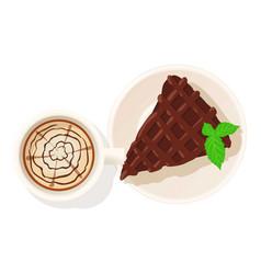 Chocolate pie icon isometric style vector