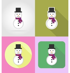 christmas and new year flat icons 03 vector image vector image