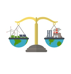 Concept of alternative energy sources vector