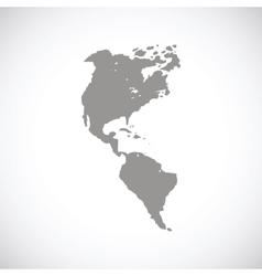 Continental Americas black icon vector image