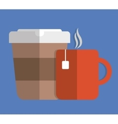 Couple of Mugs icon Drinks design graphic vector