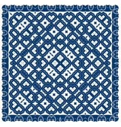 creative carpet pattern blue color vector image