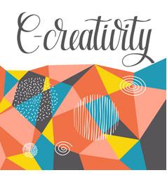 Creativity background vector