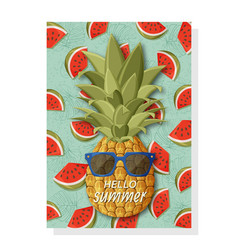 cute summer background template for banners and vector image
