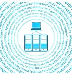 digital server vector image