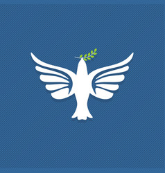 dove a symbol peace and purity vector image