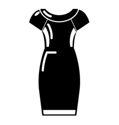 dress icon simple black style vector image