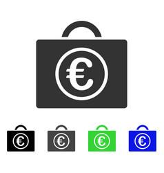 Euro baggage flat icon vector