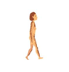Female neanderthal biology human evolution stage vector
