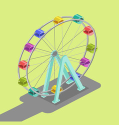ferris wheel isometric vector image