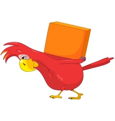 Funny Parrot Delivery vector image