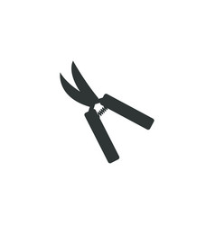 gardening scissors icon simple gardening element vector image