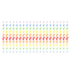 gay symbol shape halftone spectrum effect vector image
