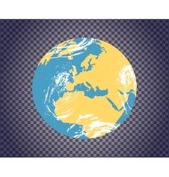 Globe Icon with Map vector