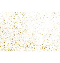 Gold glitter texture isolated on white vector
