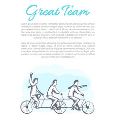 Great team poster text sample vector
