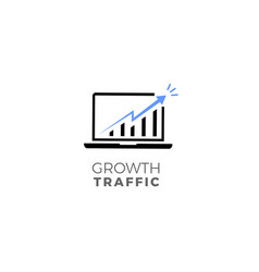 growth traffic vector image