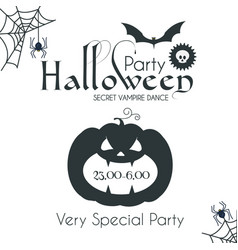 halloween party silhouette design template vector image