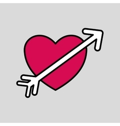 Heart icon design vector