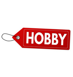 Hobby label or price tag vector