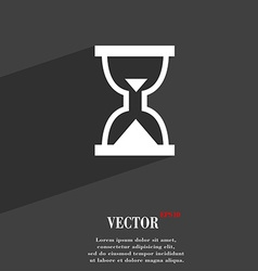 Hourglass Sand timer icon symbol Flat modern web vector