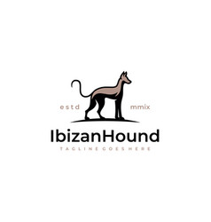 Hunting dog silhouette logo vector