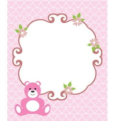 Invitation card pink vector