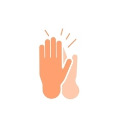 Isolated abstract clapping hands logo set Give vector image